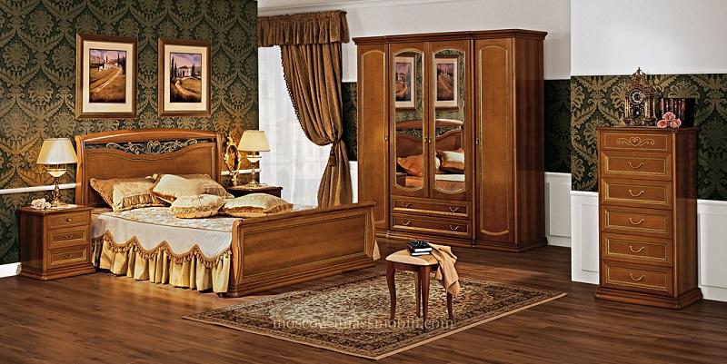 Спальня «Луиджи», цвет орех