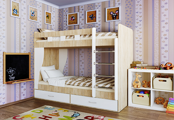 Кровать двухъярусная «Альба»