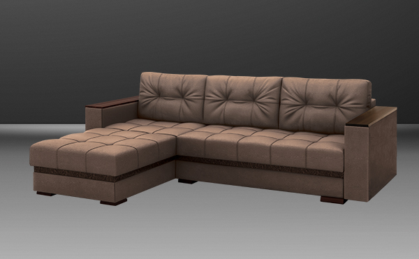Диван-кровать угловой Серджио без приставки (независимый пружинный блок)